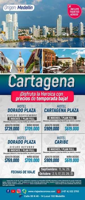 Viaje como un Rey a Cartagena HOTEL PLAZA con Viajes la Corona