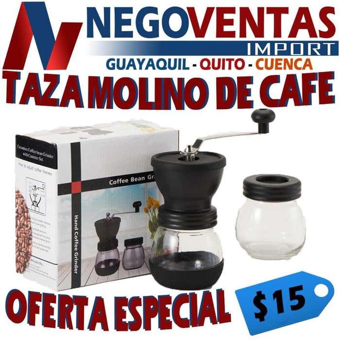 TAZA MOLINO DE CAFÉ EN OFERTA