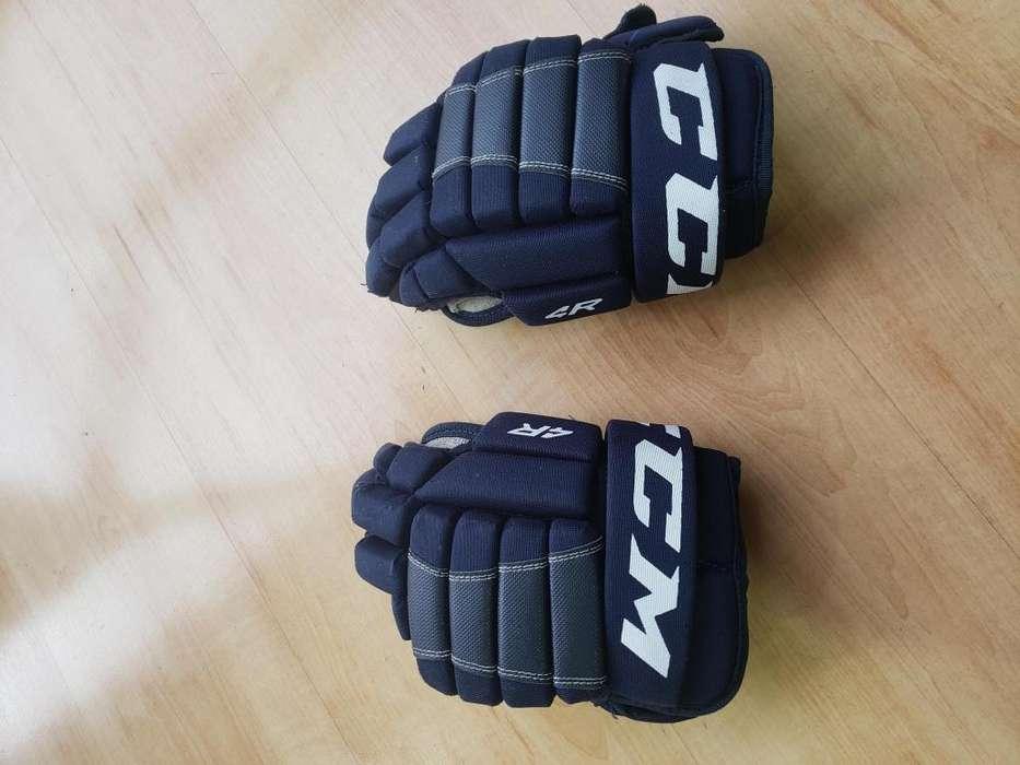 Guantes para Hockey usados marca CCM 4R junior 28 cm