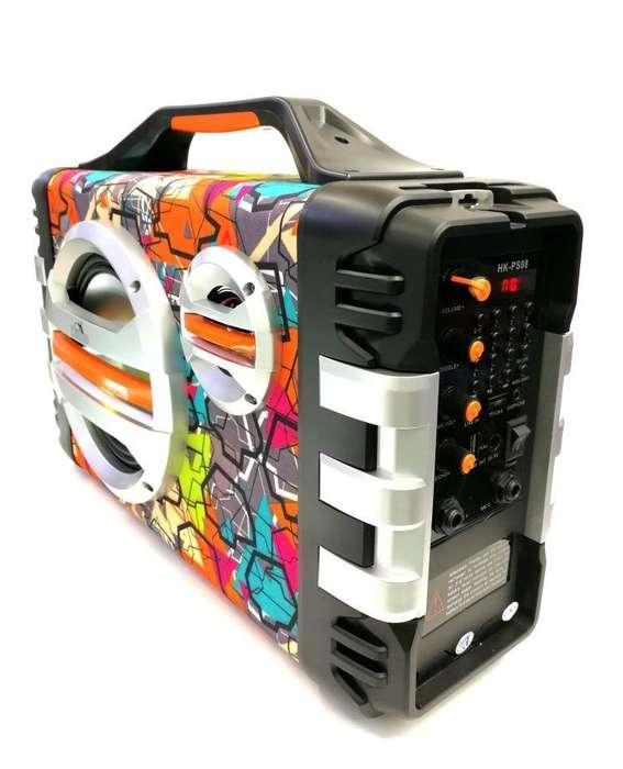 Cabina De Sonido Portátil Bluetooth Karaoke Usb Fm!!