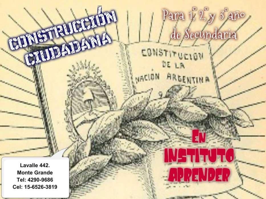 CIUDADANÍA, CLASES DE APOYO EN MONTE GRANDE