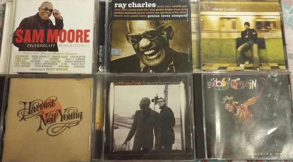 CD Same Moore Ray Charles Neil Young Daniel Powter Bobby Mc Ferrin Lighthouse Family 6 CDS