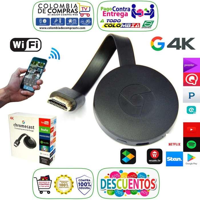 Google Chromecast 4k 2Generación 2.4GHz Antena Wifi, Nuevos, Garantizados.