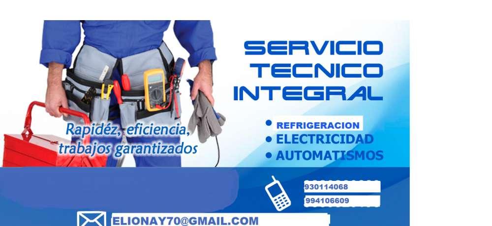 SERVICIO TECNICO REFRIGERACION LAVADORA ELECTRCIDAD ELECTRONICA