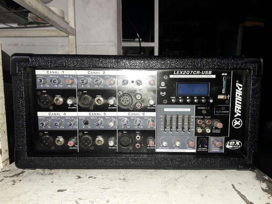Amplificador Yamaki Lex207gr-usb