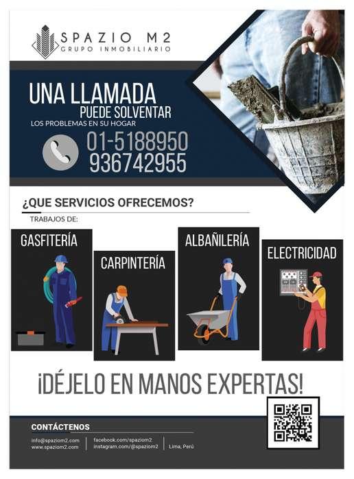 SERVICIOS REPARACION ALBAÑIL CARPINTERO GASFITERO ELECTRICISTA PROFESIONAL 100%