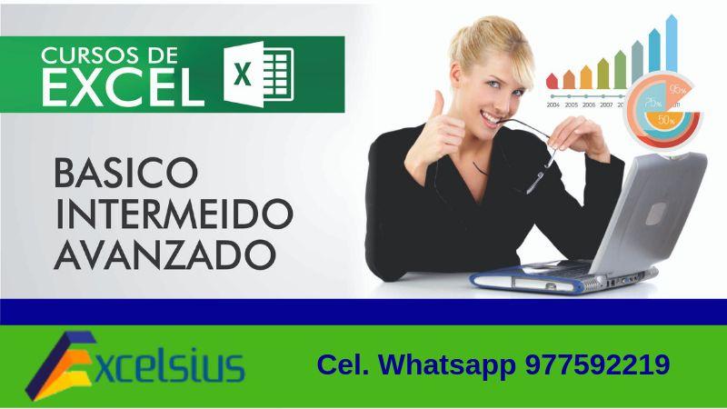 CLASES DE EXCEL, BÁSICO, INTERMEDIO Y AVANZADO ASESORÍA EN  MACROS