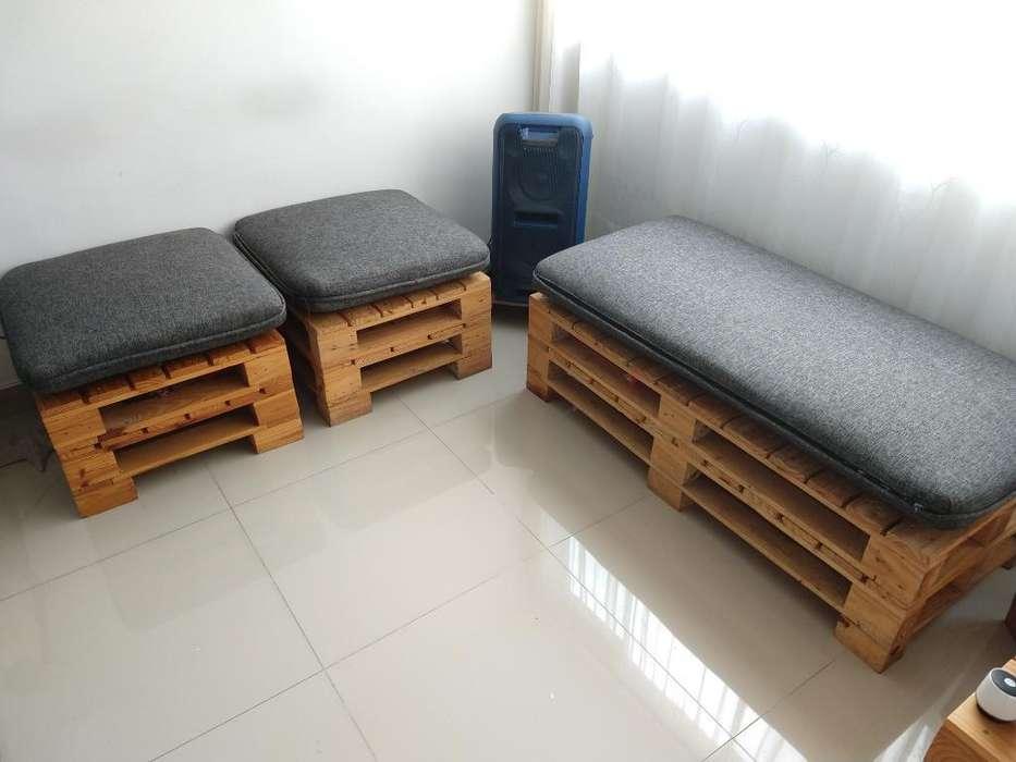 Sala de Estibas Amoblada, 2 <strong>silla</strong>s, 1