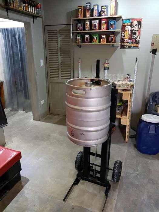 Carro Apilador Barriles de Cerveza