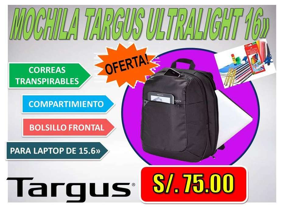 <strong>mochila</strong> TARGUS ULTRALIGHT 16»