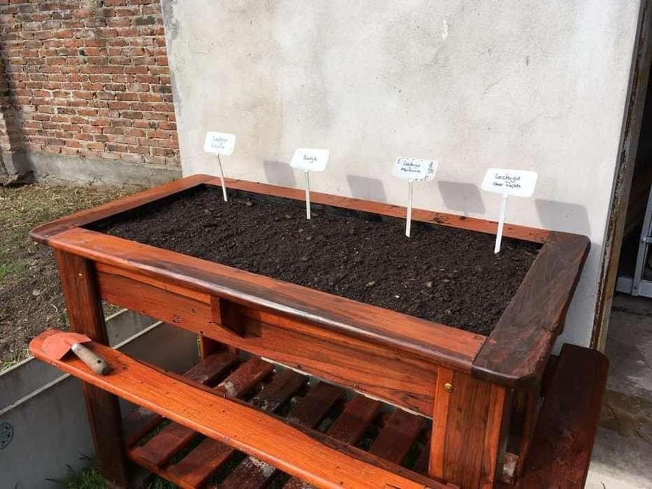 Huerta Elevada/mesa De Cultivo En Madera Dura