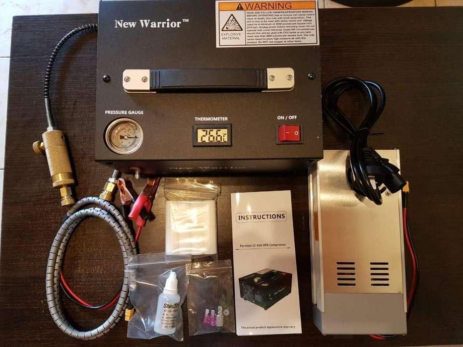 Mini compresor 300 bares portatil 2da generacion
