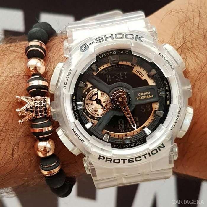 Reloj Casio blanco transparente para hombre en venta