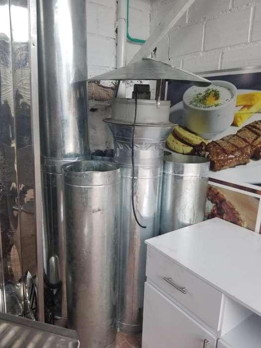 Restaurante campana y ducteria con extractor
