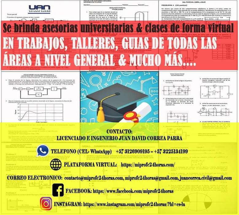 Asesorías en Trabajos Universitarios ,Talleres, Quiz ,Parciales Online De Todas las cátedras de la Uni y más...