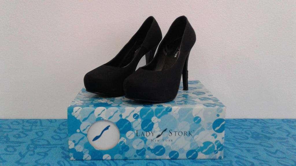 Zapatos de satén negros 36