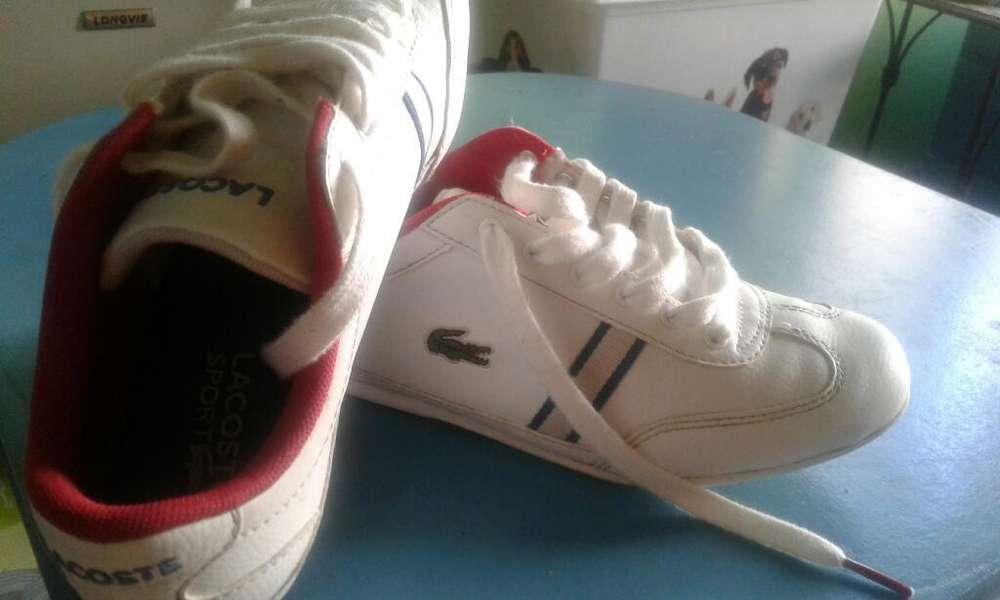 Zapatillas Lacoste Blancas Nro 35