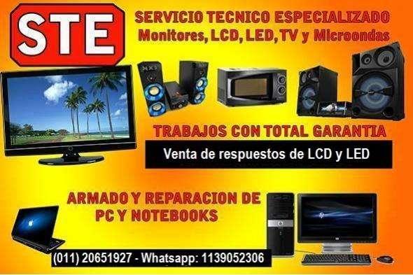 Servicio Técnico de TV LCD y LED Trabajos con total garantía WhastApp 1139052306