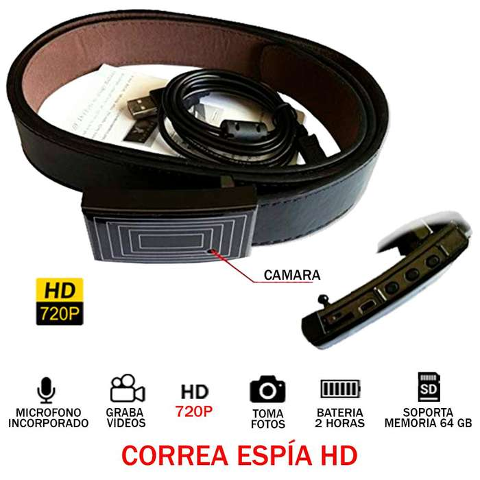 Cinturon Correa Espia Hd 720p Audio Video Oculto