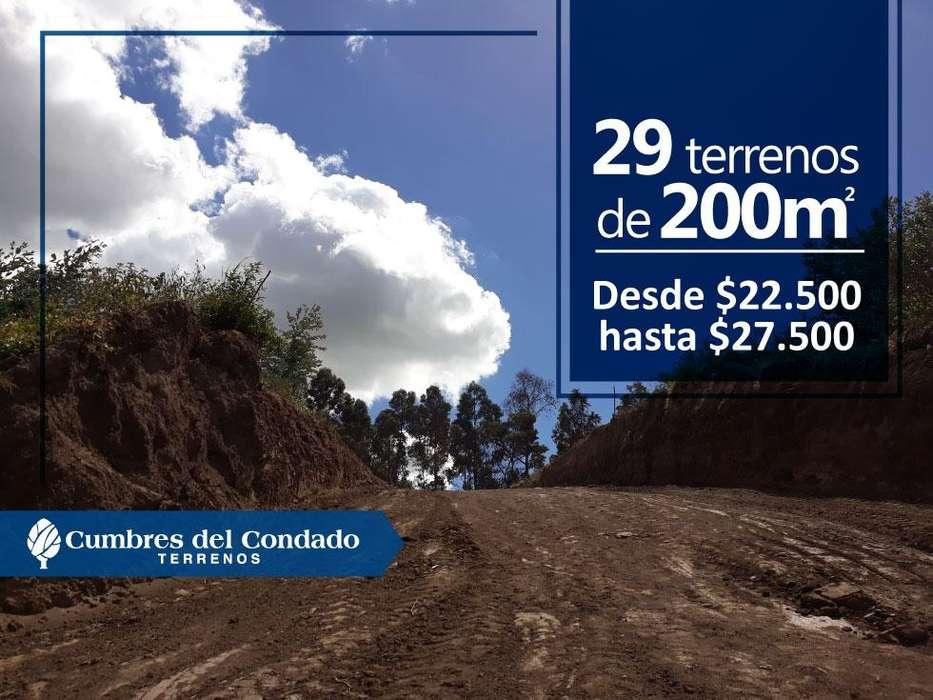 Venta de terrenos urbanizados en Cumbres del Condado norte de Quito