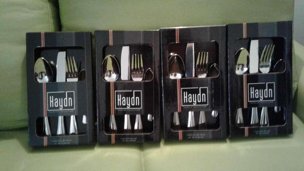 Juego de cubiertos NUEVO de lujo Haydn 16 piezas en acero inox importados. NUEVOS