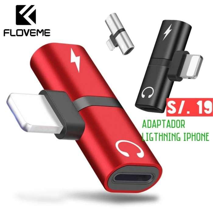 Adaptador Ligthning iPhone Carga Y Audio