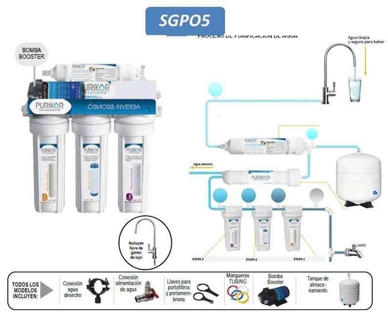 Sistema Purificador De Agua 5 Etapa. Filtro De Agua Ósmosis