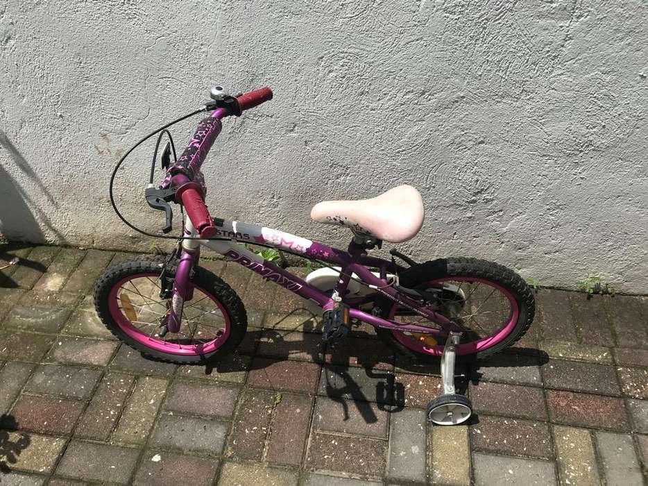 Bicicleta con Ruedas Auxiliares