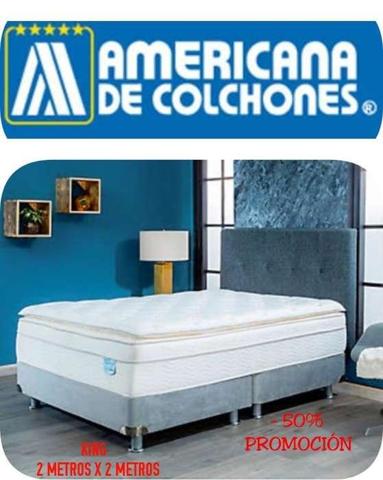Cama Nueva Colchón Base King Americana
