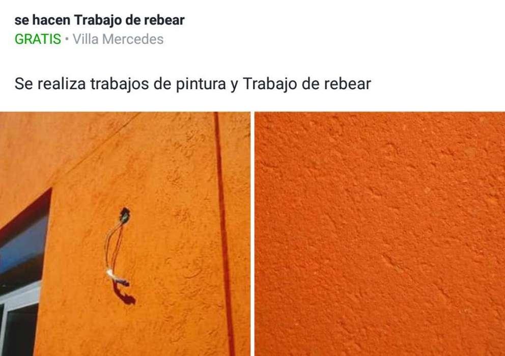 Se Realiza Trabajos de Rebea