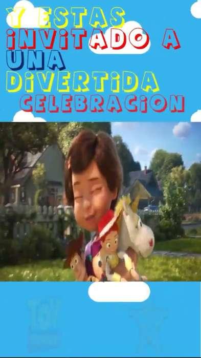 Video Invitacin Toy Story 4 fiestas infantiles cumpleaos nios nias