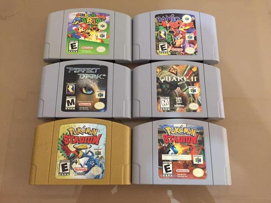 Juegos cassetes nintendo 64 N64