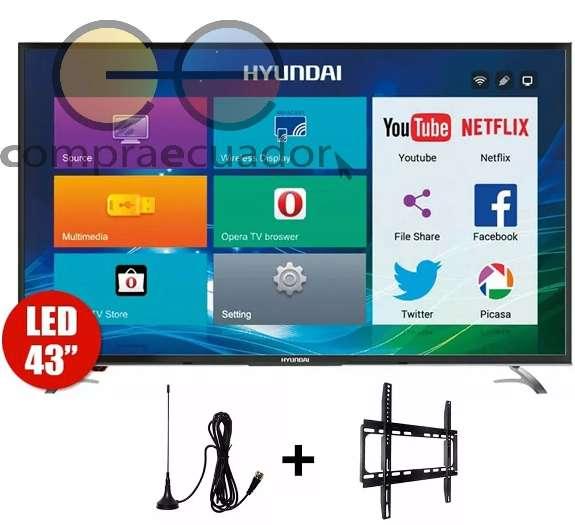 Hyundai Televisor Smart Full Hd 43 Android Soporte Antena