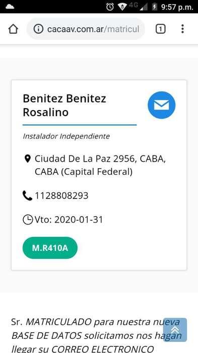 Instalación Aires Y Servicios Carga Gas