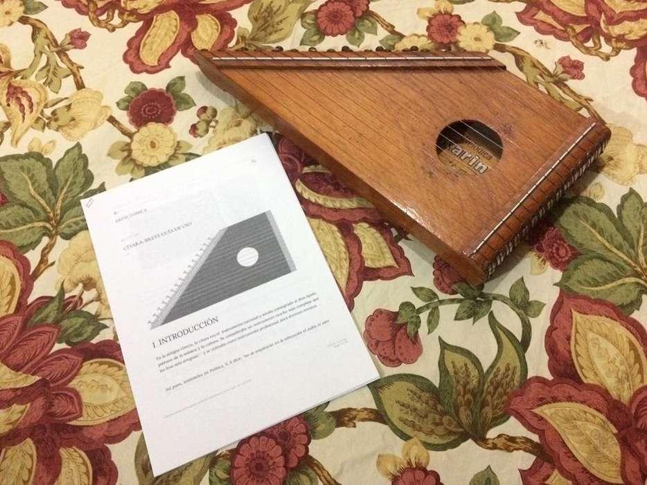 CITARA -15 cuerdas con guía de uso y canciones, ideal para niños