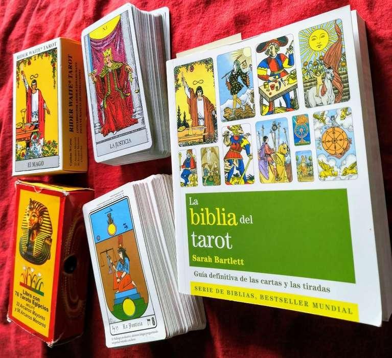 Tarot Rider Waite, Tarot Egipcio Y Libro