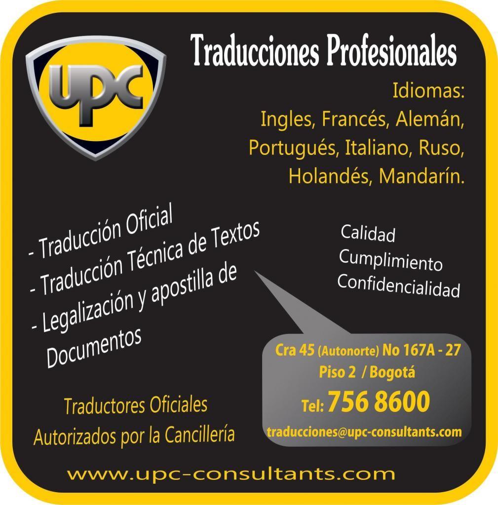 Traducciones Oficiales / Técnicas En INGLÉS, ALEMÁN, PORTUGUÉS, ITALIANO, FRANCÉS, RUSO, MANDARÍN Y HOLANDES.