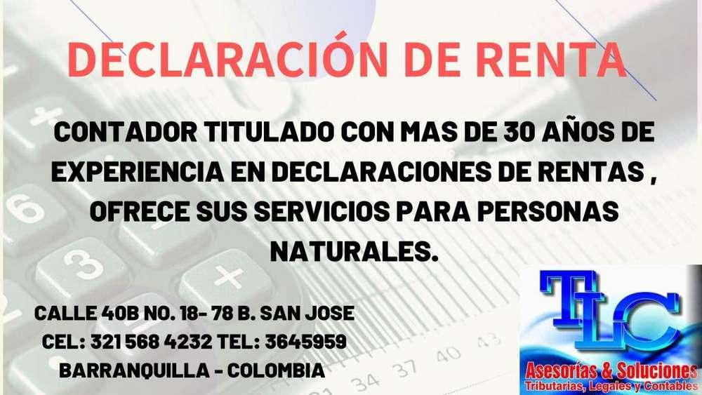 DECLARACIÓN DE RENTA - PERSONAS NATURALES - AÑOS 2019-2018