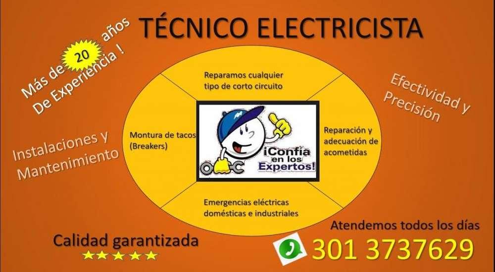 Técnico Electricista Bucaramanga, Contáctenos 3013737629 Emergencias Eléctricas, Trabajamos todos los Días