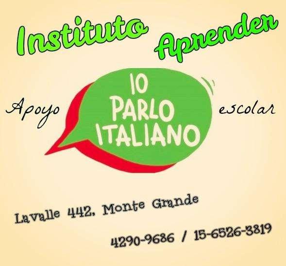 ITALIANO, CLASES DE APOYO EN MONTE GRANDE