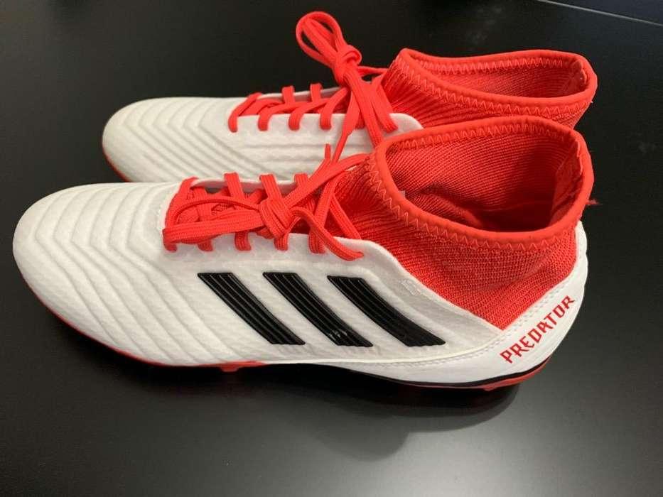 Botines Adidas Predator 18.3 Blancos T41