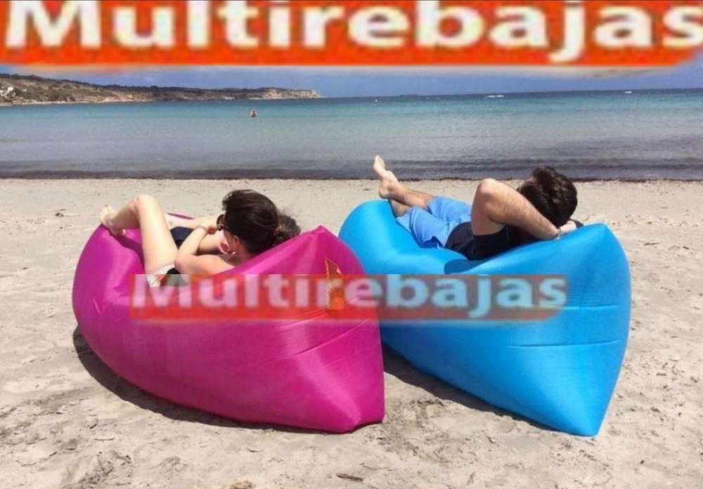 Puff Inflable para Descansar Y Relajarse En La Playa