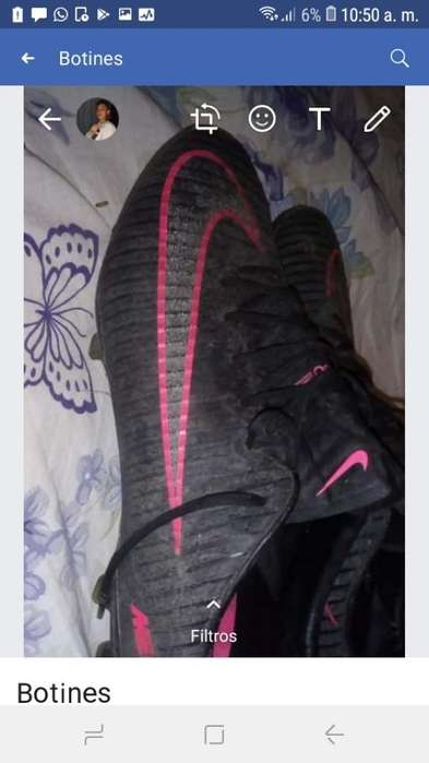 Botines Nike Acc Poco Uso con Bolsita