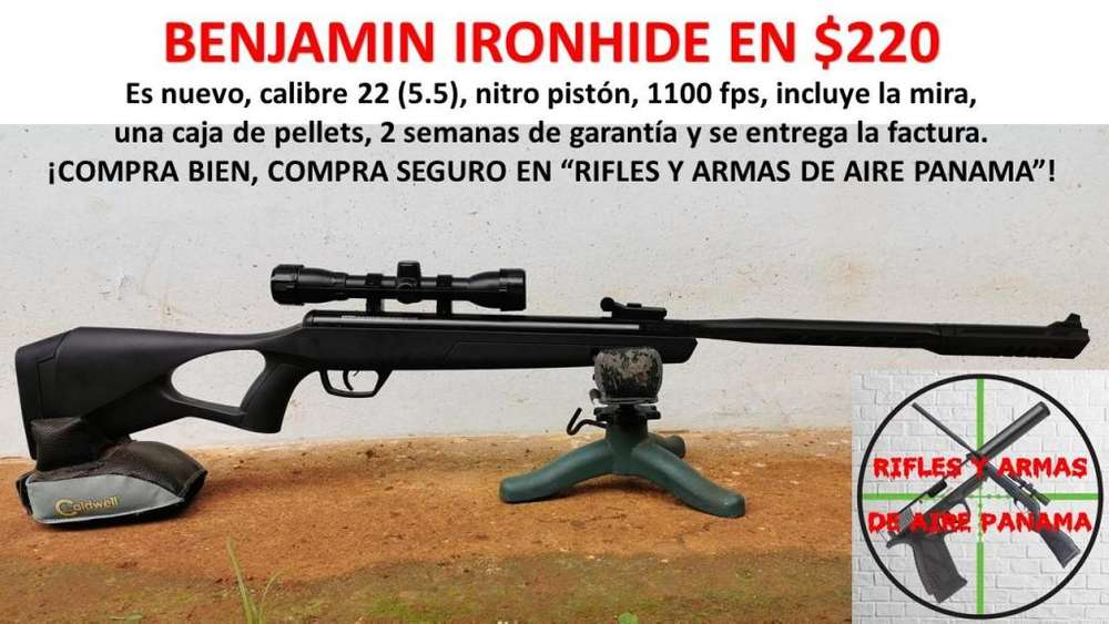 Rifle de pellets calibre 22 a 220
