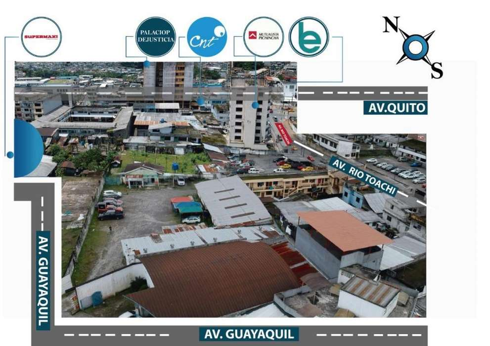 Terreno en Venta Santo Domingo de los Tsachilas sector financiero comercial