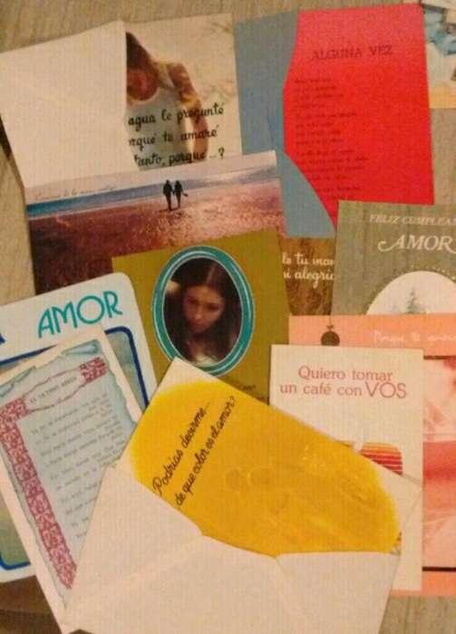 Tarjetas Amor/amistad Antiguas