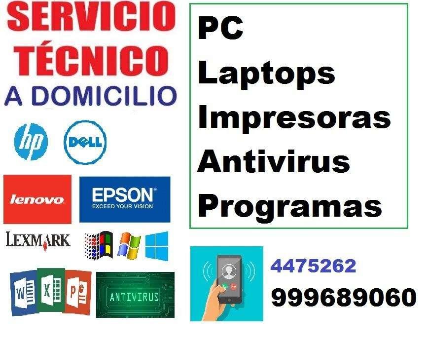 SERVICIO TECNICO de COMPUTADORAS, LAPTOP, IMPRESORAS a DOMICILIO EN TODO LIMA