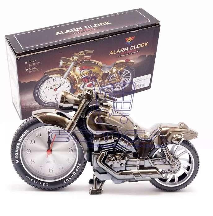 Reloj Decorativo Motocicleta De Mesa