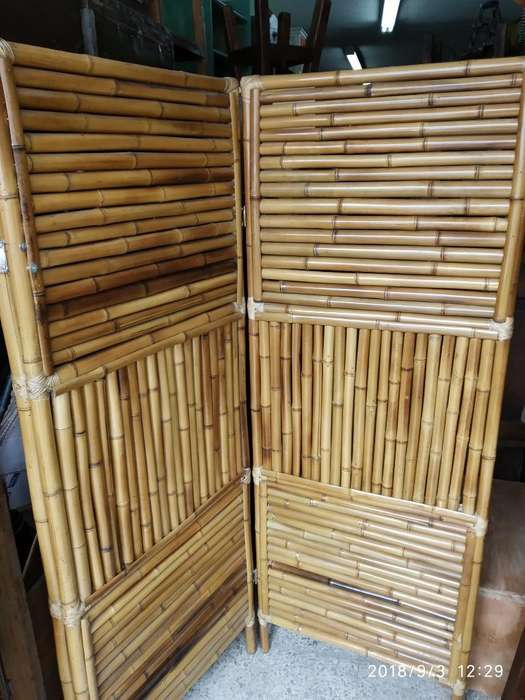 Biombo en Bamboo 3 Hojas