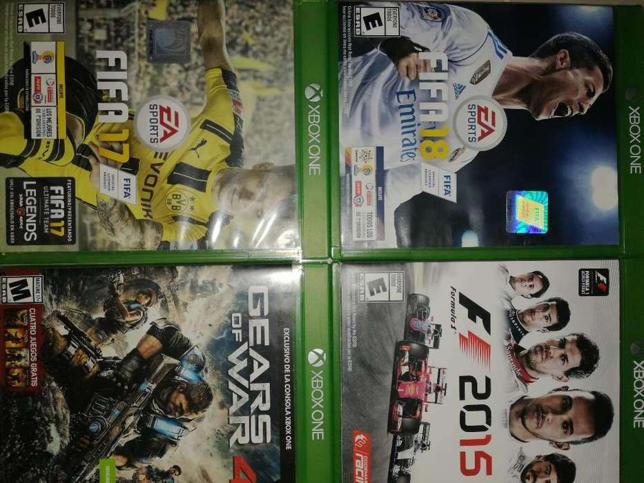 Vendo4 Juegosde Xbox Fifa 18,17,gears.f1